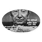 British Philosophy Ayer Oval Sticker