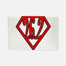 Superman the Runner Rectangle Magnet