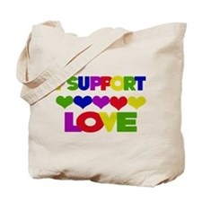 I support Love Tote Bag