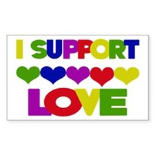 I support Love Rectangle Decal