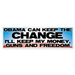 Keep The Change Bumper Sticker (50 pk)