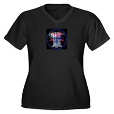 Shavuot God Women's Plus Size V-Neck Dark T-Shirt