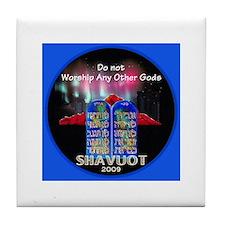 Shavuot God Tile Coaster