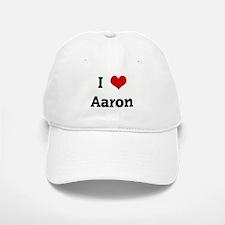 I Love Aaron Baseball Baseball Cap