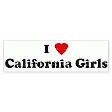 I Love California Girls Bumper Bumper Sticker
