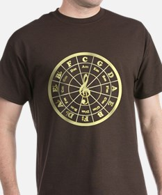 Yellow Circle of Fifths T-Shirt
