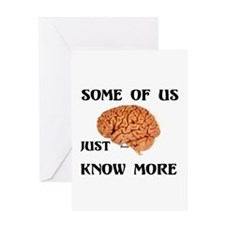 BRAIN POWER Greeting Card