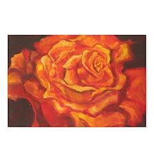 Fiery Rose Postcards (Package of 8)