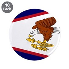 "Flag of American Samoa 3.5"" Button (10 pack)"