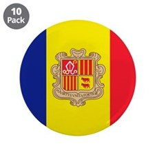 """Flag of Andorra 3.5"""" Button (10 pack)"""