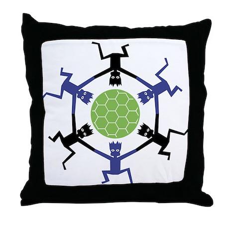 Soccer Fan Throw Pillow