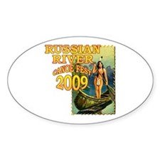 Russian River Canoe Fest 2009 Oval Decal