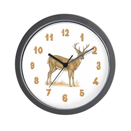 Deer Wood Wall Clock