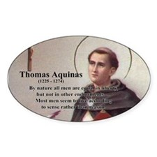 Theology Thomas Aquinas Oval Decal