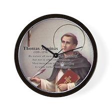 Theology Thomas Aquinas Wall Clock