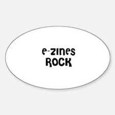 E-ZINES ROCK Oval Decal