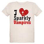 I Love Sparkly Vampires Organic Kids T-Shirt