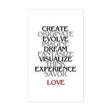 LOVE & INSPIRATION Rectangle Decal
