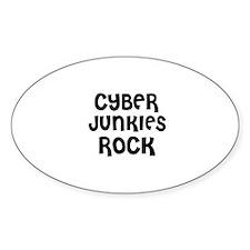CYBER JUNKIES ROCK Oval Decal