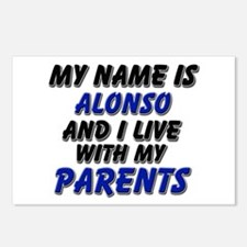 my name is alonso and I live with my parents Postc