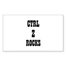 CTRL Z ROCKS Rectangle Decal