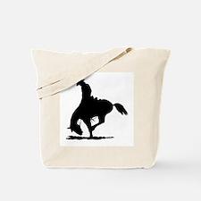 Saddle Bronc Riding Tote Bag