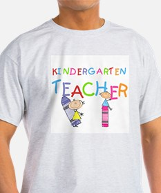 Crayons Kindergarten Teacher T-Shirt