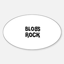 BLOGS ROCK Oval Decal