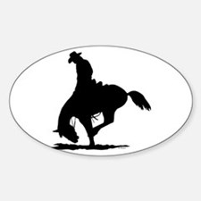 Saddle Bronc Riding Oval Decal