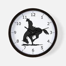 Saddle Bronc Riding Wall Clock
