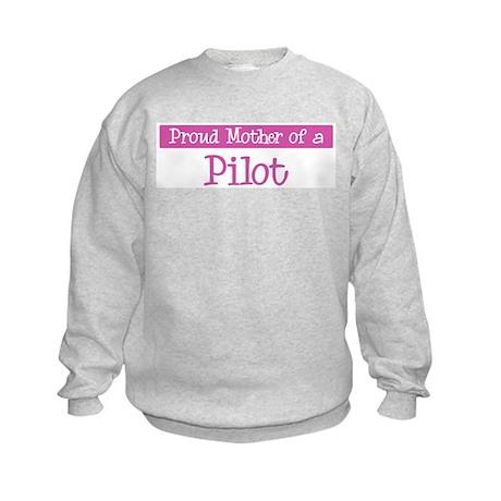 Proud Mother of Pilot Kids Sweatshirt