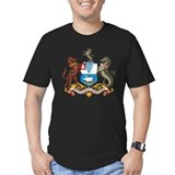 Belfast coat of arms Fitted T-shirts (Dark)