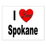 I Love Spokane Small Poster