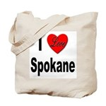 I Love Spokane Tote Bag