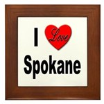 I Love Spokane Framed Tile