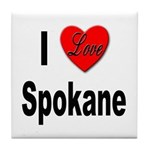 I Love Spokane Tile Coaster