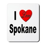 I Love Spokane Mousepad