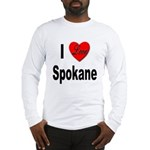 I Love Spokane (Front) Long Sleeve T-Shirt