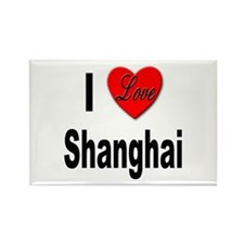 I Love Shanghai China Rectangle Magnet