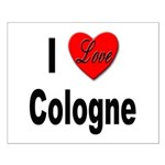 I Love Cologne Germany Small Poster