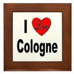 I Love Cologne Germany Framed Tile