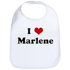 I Love Marlene Bib