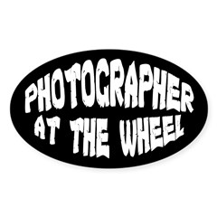 Photographer At The Wheel Oval Decal
