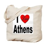 I Love Athens Greece Tote Bag