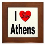 I Love Athens Greece Framed Tile