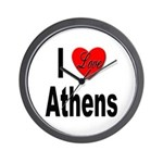 I Love Athens Greece Wall Clock