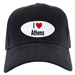 I Love Athens Greece Black Cap
