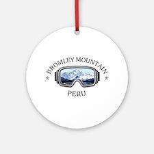 Bromley Mountain - Peru - Vermont Round Ornament