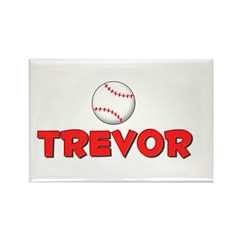 Trevor Baseball Rectangle Magnet