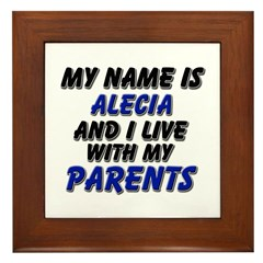 my name is alecia and I live with my parents Frame